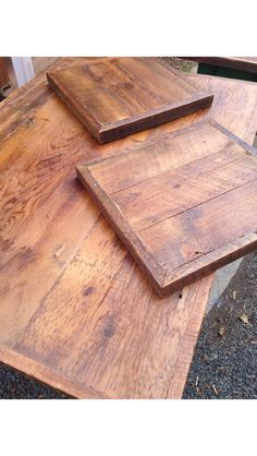 Reclaimed Barn Wood Table Tops, In Natural Finish Via Etsy