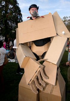 Giant   Cardboard   Robots.  com- weird but awesome