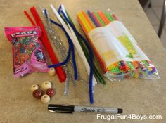 Pipe Cleaner Ninjas - Frugal Fun For Boys and Girls Craft Projects For Kids, Crafts For Kids To Make, Craft Activities For Kids, Fun Crafts, Arts And Crafts, Stem Activities, Family Fun Magazine, Kids Market, Pipe Cleaner Crafts