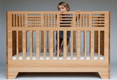 I wish I was a baby so I could sleep in a crib like this!  Echo crib from Kalon Studios