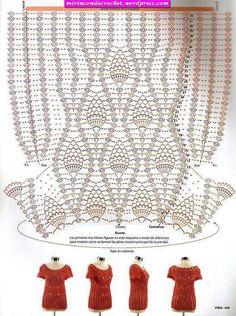 Fabulous Crochet a Little Black Crochet Dress Ideas. Georgeous Crochet a Little Black Crochet Dress Ideas. Pull Crochet, Gilet Crochet, Mode Crochet, Crochet Tunic, Crochet Clothes, Crochet Lace, Crochet Stitches, Crochet Patterns, Crochet Tops