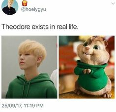 Theodore got HOT, that's what happened