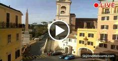 Live view of the Church of Trinità dei Monti, #Rome. Watch it live.  #Roma #Italy #Italia #travel
