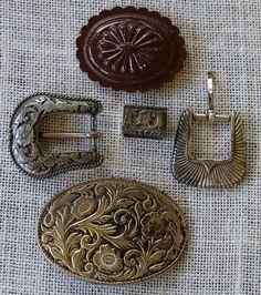 Belt Buckle Salvage  Lot 2  Vintage Belt  Decorative