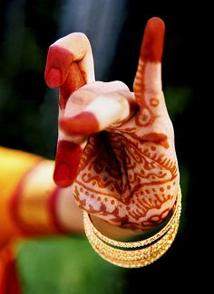 Classical Indian Dancer's, Henna Painted Hand.