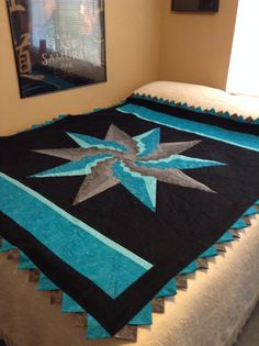 Stargello quilt completed at last