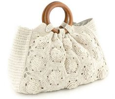"New Cheap Bags. The location where building and construction meets style, beaded crochet is the act of using beads to decorate crocheted products. ""Crochet"" is derived fro Crochet Handbags, Crochet Purses, Crochet Bags, Bead Crochet, Love Crochet, Sac Granny Square, Crochet Designs, Crochet Patterns, Pinterest Crochet"
