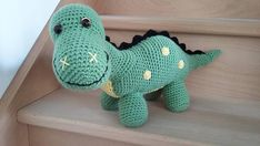 Ravelry: Dino le dinosaure pattern by Brut Anplan Crochet Dinosaur Patterns, Crochet Toys Patterns, Amigurumi Patterns, Stuffed Toys Patterns, Baby Stuffed Animals, Stuffed Animal Cat, Easter Crochet, Crochet For Kids, Dino Le Dinosaure