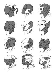 ArtStation - Helmets (with and without random grays), Jardin John Cobile