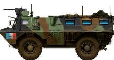 The VAB (Vanguard Armoured Vehicle) from 1976 was the main French APC, declined into about 35 versions and exported to 14 countries. Army Vehicles, Armored Vehicles, Military News, Military History, Armoured Personnel Carrier, Armored Fighting Vehicle, Battle Tank, Military Equipment, Battleship