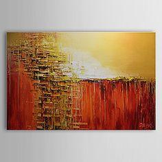 Pintados+à+mão+Abstracto+Pinturas+a+óleo,Clássico+1+Painel+Tela+Hang-painted+pintura+a+óleo+For+Decoração+para+casa+–+BRL+R$+283,89