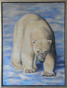 Walking on thin ice. Acryl painted by me (Lis)