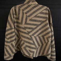 Cropped zigzag jacket, vintage broad stripes.  $1895. What to do with striped fabric!