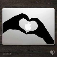 Love hands shaped as a Heart Macbook Decal / Macbook Sticker