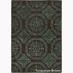 Mandara Hand-tufted Geometric Rug (5' x 7'6) | Overstock.com Shopping - Great Deals on Mandara 5x8 - 6x9 Rugs