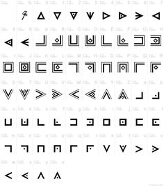 Masonic alphabet