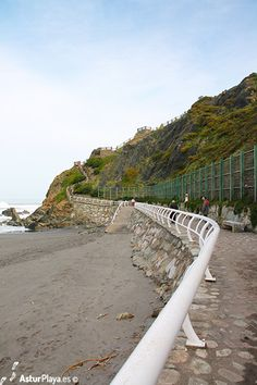 Promenade surrounding the Quebrantos beach in Asturias, Spain. It will take you to a viewpoint built on top of a headland and to the Eastern side of the beach. Cannot miss this experience!