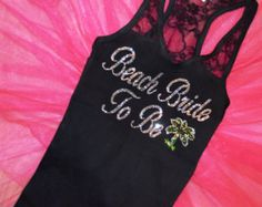 palm tree bridal party shirts | half lace Tank Top: Pal m Tree destination wedding ideas. Bridal Party ...
