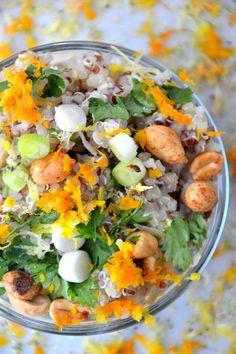 Honey Cilantro Soaked Quinoa