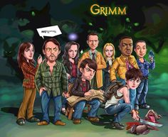 Lets celebrate the last GRIMM-less Friday night with this fun Grimmster made fan art. Grimm Cast, Nbc Grimm, Grimm Tv Show, David Giuntoli, Detective, Bree Turner, Grimm Series, Portland, Nick Burkhardt