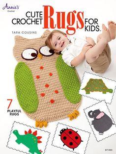 Cute Crochet Rugs for Kids - Crochet Pattern @Peggy Kunkel I want a cute crochet rug for a future nursery.... :-)