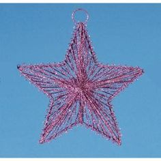 "6.5"" Mauve Pink Glitter Drenched Dimensional 5-Point Star Christmas Ornament"
