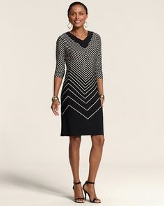 Chico's Chevron Brody Dress #chicos LOVE this for fall!