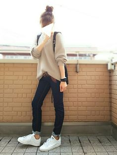 Ulzzang Fashion, Tomboy Fashion, Fashion Days, Teen Fashion, Fashion Outfits, Fashion 101, Casual Work Outfits, Comfortable Outfits, Pretty Outfits