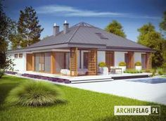 Lorena - convenient option for fans of the original design Rooftop Terrace Design, Bungalow House Design, Design Case, Pool Houses, Home Projects, Gazebo, Beach House, House Plans, Sweet Home