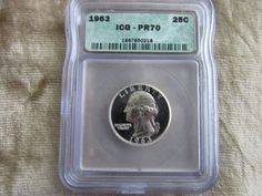 1963 Washington Quarter Graded PR70 by ICG!