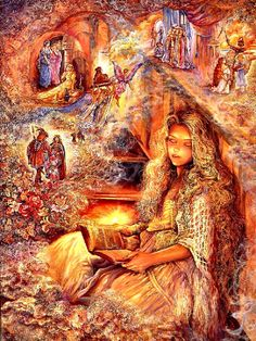 English artist Josephine Wall has been passionate about art since she was four years old. Now a respected artist, Josephine paints with a lively imagination and romanticism that escort her audience into a world of magical dimension. Josephine Wall, Fantasy World, Fantasy Art, Art Expo, Art Disney, Fantasy Paintings, Wall Paintings, Painting Art, Texture Painting