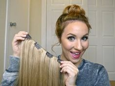 DIY/ How To: Make Your Own Clip In Hair Extensions - YouTube