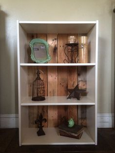 My brother in law and his girlfriends cute bookcase they did :)