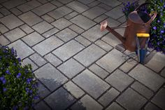 Belgard Eco Dublin is environmentally-friendly and can reduce water runoff, eliminate standing water and even serve as a water harvesting system. Belgard Pavers, Paver Stones, Dublin, Backyard, Patio, Courtyards, Refashion, Lincoln, Bungalow