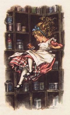 Alice falls down the rabbit hole