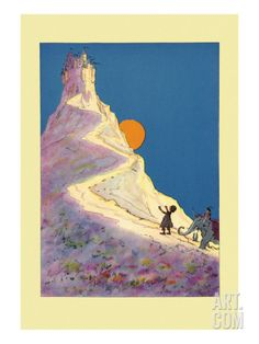 Castle on a Mountain Wall Decal by John R. Neill at Art.com