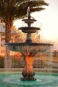 Fountain at the St. Marys Waterfront Park