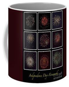 Fireworks - Black Background Coffee Mug by Scott Hervieux.  Small (11 oz.)