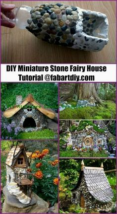 DIY miniature stone fairy house tutorial - Dragon Tattoo For Men - DIY Garden Art - Decoration Sejour - Hair Cut Ideas - Jewelry Ideas DIY Fairy Garden Houses, Diy Garden, Gnome Garden, Garden Crafts, Garden Projects, Garden Art, Diy Fairy House, Fairies Garden, Diy Crafts
