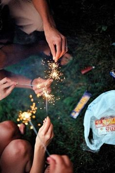 Sparklers mean summer.