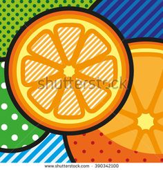 POP ART Oranges. Vector POP ART Illustration of fresh ripe oranges for your design https://www.shutterstock.com/g/lilli_jemska?rid=158830&utm_medium=email&utm_source=ctrbreferral-link
