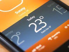 WP8 Weather App #ui Like @ #rockcandymedia