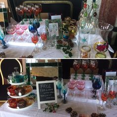 Craft Fair Displays, Craft Fairs, Tea Lights, Arts And Crafts, Hand Painted, Table Decorations, Glass, Home Decor, Decoration Home