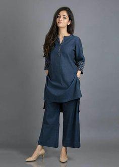[Women's fashion]Summer Outfits Women indian - All About Pakistani Fashion Casual, Pakistani Dresses Casual, Pakistani Dress Design, Indian Fashion, Hijab Casual, Stylish Dresses For Girls, Stylish Dress Designs, Designs For Dresses, Summer Fashion Outfits