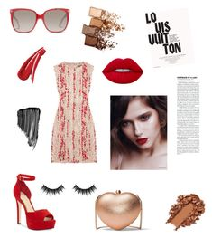 """""""Red..."""" by emese-knolmar on Polyvore featuring Alexander McQueen, MICHAEL Michael Kors, Jessica Simpson, Gucci, Morphe, Maybelline, Sisley, Lime Crime and Louis Vuitton"""