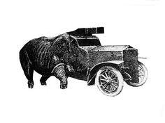 machine animal collages - Nicolas Lampert