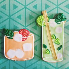The sun is out which can mean only one thing, it's time for summer cocktail parties! Made from biscuits of course...