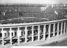 Das Olympiastadion am 1.August 1936. Berlin, 1936. o.p.
