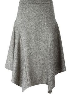 tweed asymmetric skirt