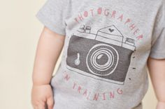 photographer in training - photographer kids tee - camera